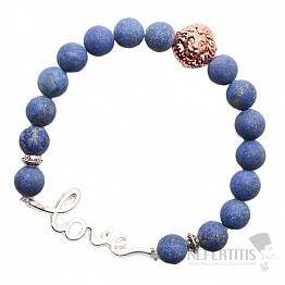 Lapis lazuli Love náramek korálkový