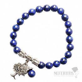Lapis lazuli náramek extra korálkový se stromem života