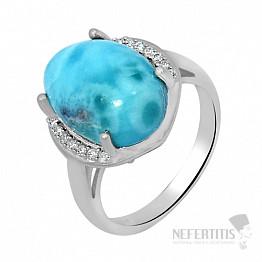 Larimar prsten stříbro LD 05 Ag 925