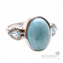 Larimar prsten stříbro LD 11 Ag 925