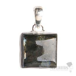 Larvikit černý měsíční kámen přívěsek stříbro Ag 925 P97
