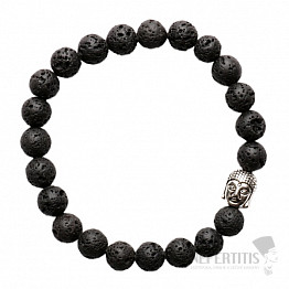 Náramek z lávového kamene s hlavou Buddhy