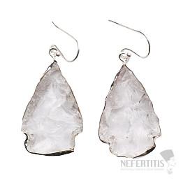 Lemurský krystal náušnice stříbro Ag 925 E27