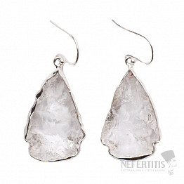 Lemurský krystal náušnice stříbro Ag 925 E34