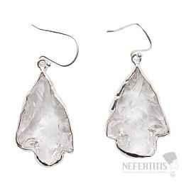 Lemurský krystal náušnice stříbro Ag 925 E37