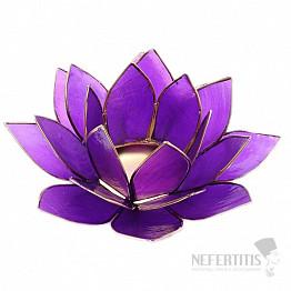 Svícen lotos pro korunní čakru