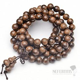 Japa Mala náhrdelník bubinga keva dřevo