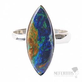 Malachit v azuritu prsten stříbro Ag 925 R134