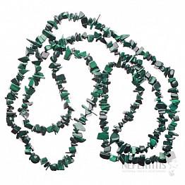 Malachit náhrdelník sekaný