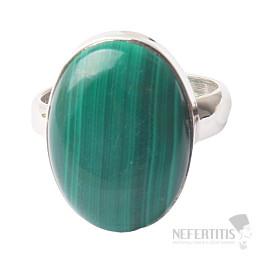 Malachit prsten stříbro Ag 925 R1030