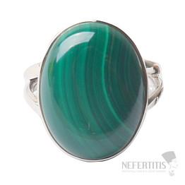 Malachit prsten stříbro Ag 925 R1138
