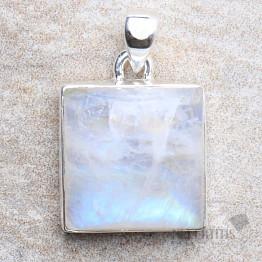 Měsíční kámen duhový přívěsek stříbro Ag 925 P12275