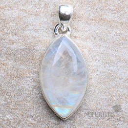 Měsíční kámen duhový přívěsek stříbro Ag 925 P2512