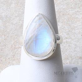 Duhový měsíční kámen prsten stříbro Ag 925 R2202