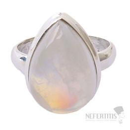Měsíční kámen duhový prsten stříbro Ag 925 R1760