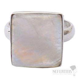 Měsíční kámen duhový prsten stříbro Ag 925 R1768