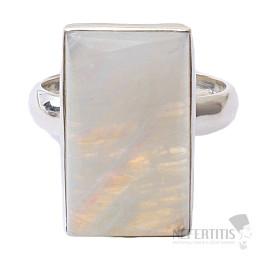 Měsíční kámen duhový prsten stříbro Ag 925 R1779