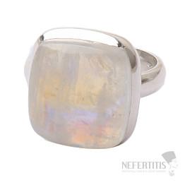 Měsíční kámen duhový prsten stříbro Ag 925 R1782