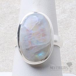 Měsíční kámen duhový prsten stříbro Ag 925 R2110