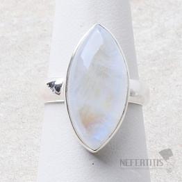Měsíční kámen duhový prsten stříbro Ag 925 R2386