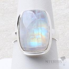 Měsíční kámen duhový prsten stříbro Ag 925 R2402