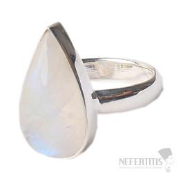 Duhový měsíční kámen prsten stříbro Ag 925 R2204