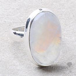 Měsíční kámen duhový prsten stříbro Ag 925 R2408