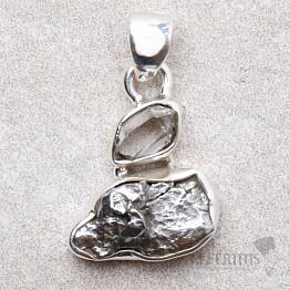 Meteorit Campo del Cielo designový přívěsek stříbro Ag 925 P119
