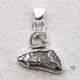 Meteorit Campo del Cielo designový přívěsek stříbro Ag 925 P125