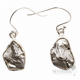 Meteorit Campo del Cielo náušnice stříbro Ag 925 E321