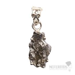 Meteorit Campo del Cielo přívěsek stříbro Ag 925 P827