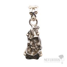 Meteorit Campo del Cielo přívěsek stříbro Ag 925 P832