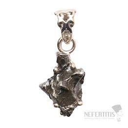 Meteorit Campo del Cielo přívěsek stříbro Ag 925 P842