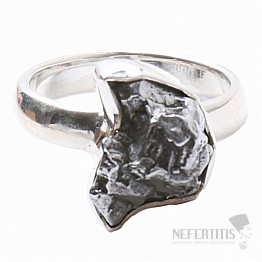 Meteorit Campo del Cielo prsten stříbro Ag 925 R807