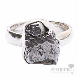 Meteorit Campo del Cielo prsten stříbro Ag 925 R836