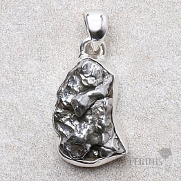 Meteorit Campo del Cielo přívěsek stříbro Ag 925 P1099
