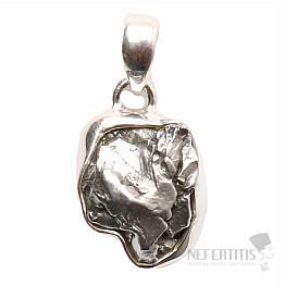 Meteorit Campo del Cielo přívěsek stříbro Ag 925 P702