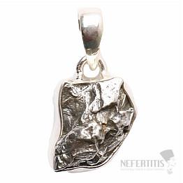 Meteorit Campo del Cielo přívěsek stříbro Ag 925 P729