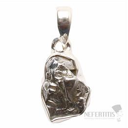 Meteorit Campo del Cielo přívěsek stříbro Ag 925 P730