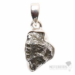 Meteorit Campo del Cielo přívěsek stříbro Ag 925 P732