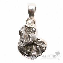 Meteorit Campo del Cielo přívěsek stříbro Ag 925 P736