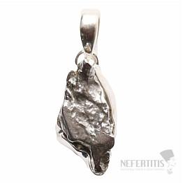 Meteorit Campo del Cielo přívěsek stříbro Ag 925 P750