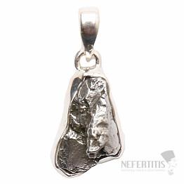 Meteorit Campo del Cielo přívěsek stříbro Ag 925 P757