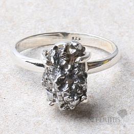 Meteorit Campo del Cielo prsten stříbro Ag 925 R855