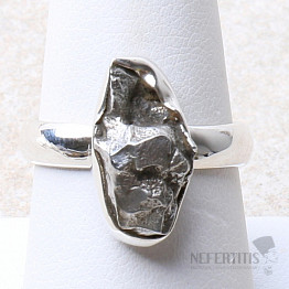 Meteorit Campo del Cielo prsten stříbro Ag 925 R925