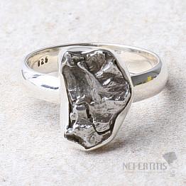 Meteorit Campo del Cielo prsten stříbro Ag 925 R932