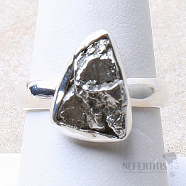 Meteorit Campo del Cielo prsten stříbro Ag 925 R935