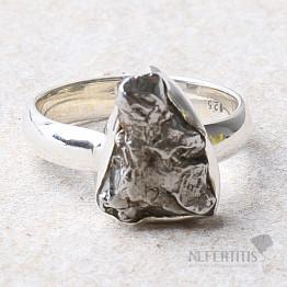 Meteorit Campo del Cielo prsten stříbro Ag 925 R942