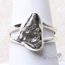 Meteorit Campo del Cielo prsten stříbro Ag 925 R957