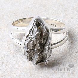 Meteorit Campo del Cielo prsten stříbro Ag 925 R958